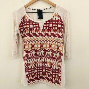 Dolan Anthropologie Lamai Embroidered Top Small